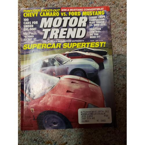 Motor Trend magazine - July 1990 Issue