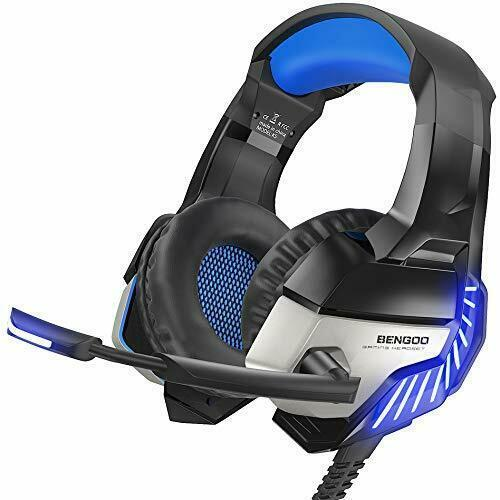 BENGOO K8 Gaming Headset Headband Headphone Microphone 3.5mm Wired Noise Cancel