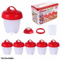 Egg Cooker-Silicone Egg Poachers for hard boiled eggs,Egg Cups AS SEEN ON TV,