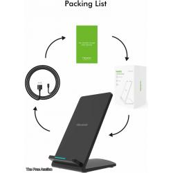 Hevanto Fast Qi-Certified Wireless Charger Model M520 Charging Stand for All QI-