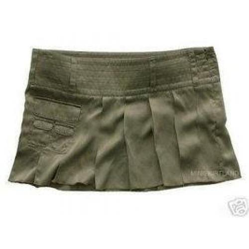 Sexy Hollister Vintage Silk Pleated Mini Skirt Miniskirt NWT
